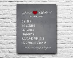 25 year anniversary gifts anniversary gift for chalkboard print 10 year 5 year