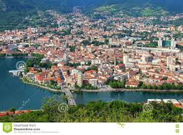 Lake Como Italy Map Lecco Lake Como Italy Stock Photo Image 81126364