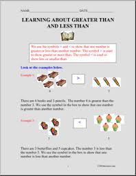 greater than less than primary worksheets abcteach