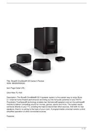 bose cinemate 3 2 1 home theater system bose cinemate gs series ii review