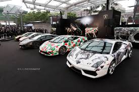 wrapped cars lamborghini 50th anniversary celebration in hong kong