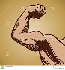 man flexing arm muscle stock images image 20484564