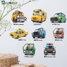 stickers voiture pour chambre garcon maruoxuan ville voiture de dessin animé enfant chambre décoration