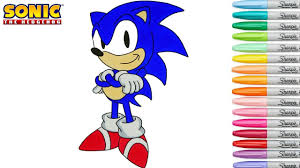 sonic the hedgehog coloring page sonic the hedgehog coloring book pages sega genesis speedpaint