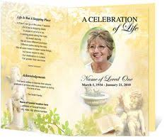 memorial program ideas free funeral program templates on the button to get