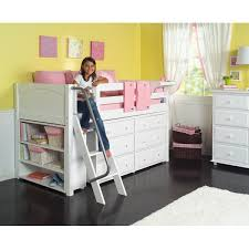 maxtrixkids kicks2 wp low loft bed with angle ladder 6 drawer