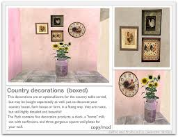 Country Decorations Second Life Marketplace Country Decorations Copy Mod Boxed