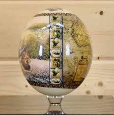 decorated ostrich eggs for sale painted ostrich egg sw4212 safariworks taxidermy sales