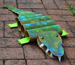 art with kids cardboard crocodiles