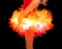 Led Halloween Costume 20 Fire Costume Ideas Graduation Skirts