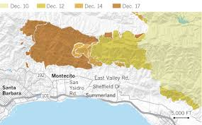 Compton Gang Map Fire Mudflows Evacuations And Deaths Maps Show How Montecito