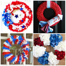 july 4th wreaths a diy collection of 16 creative patriotic wreaths