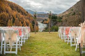 wedding arch hire queenstown shelly pete s autumn queenstown wedding queenstown wedding hire