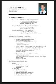Sample Resume For Ojt Accounting Students by Sample Resume Format For Fresh Graduates One Page Student Template