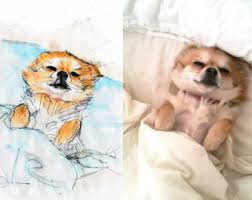 dog sketches etsy