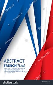 French Flag Banner Abstract France French Flag Vector Art Stock Vector 187311311