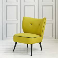 Yellow Chair A Delightfully Comfortable Linen Occasional Chair With Contrasting