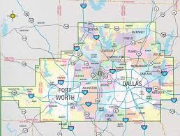 map of dallas fort worth dallas and fort worth metro combo book by mapsco