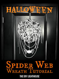 cobweb spray for halloween halloween spider web wreath tutorial the diy lighthouse