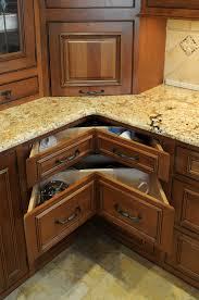 Storage Solutions For Corner Kitchen Cabinets Awesome Corner Kitchen Cabinet Storage Solutions Also