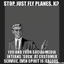 stop just fly planes k you and your social media interns suck