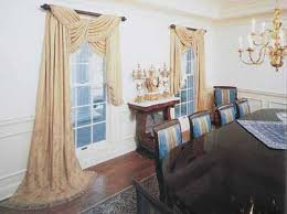 another way to dramatically use scarf valances whether in the lace