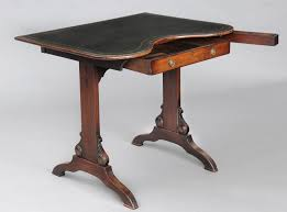 Kidney Shaped Writing Desk by English Kidney Shaped Mahogany Antique Writing Table