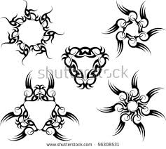 tribal sun tattoo stock images royalty free images u0026 vectors