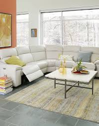 White Leather Sectional Sofas Kelsee Fabric And Leather Power Reclining Sectional Sofa