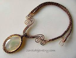 necklace wire images Mother of pearl bronze wire necklace jewelry making journal jpg