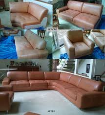 Leather Sofa Color Restoration by Leather Furniture Repair Leather Furniture Refinishing Leather