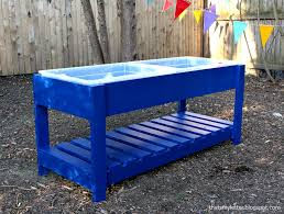 diy sand and water table pvc ana white sand and water play table diy projects