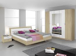 chambre à coucher chêtre chambre adulte contemporaine chêne sonoma blanc joanice chambre