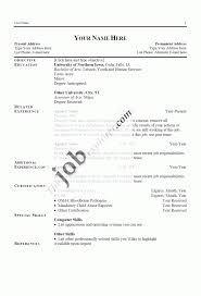 Sample Word Document Resume by Simple Resume Format In Word Free Resume Templates 412 Examples