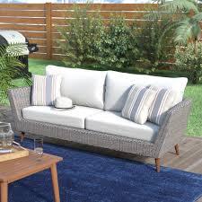 Patio Furniture Without Cushions Langley Newbury Patio Sofa With Cushions Reviews Wayfair
