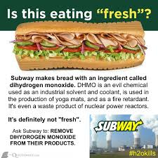 Subway Sandwich Meme - petition subway to remove dihydrogen monoxide from its products