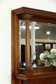fireplace mantel u0026 mirror 1895 antique architectural salvage