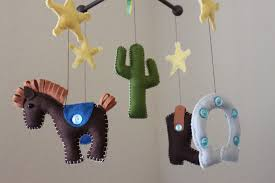 baby crib mobile baby mobile nursery rodeo cowboy mobile