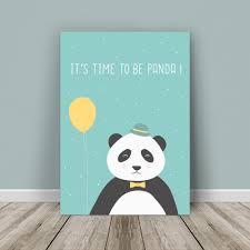 affiche chambre garcon affiche personnalisable monsieur panda décoration de chambre
