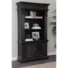 distressed black bookcase designs and colors modern cool on