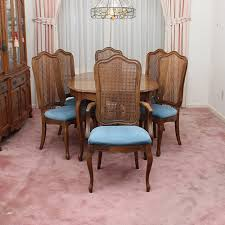 thomasville dining room chairs vintage french provincial style dining set by thomasville ebth