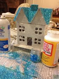 glitter house paper houses pinterest house christmas