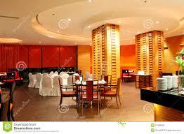 modern restaurant interior in night illumination royalty free