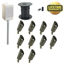 Low Voltage Path Light Kits Led Low Voltage Landscape Lighting Kit Lightings And Lamps Ideas