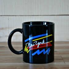 90 S Decor Vintage New York Mug Usa Mug Black Mug State Mug Mother Gift