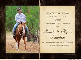 country cowboy graduation photo card western 2017 senior s rustic