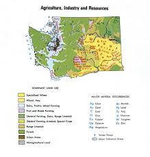 Map Washington Agriculture And Industry Map Of Washington