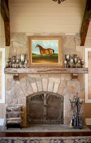 fireplace fall mental decorating ideas with stacked stone veneer