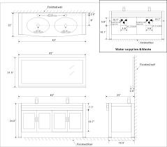 Bathroom Sink Sizes Standard Standard Bathroom Vanity Sink Size Double Dimensions Cabinet Depth