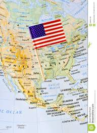 States Of America Map by Unites States Of America Flag Pin On Map Stock Photo Image 58660796
